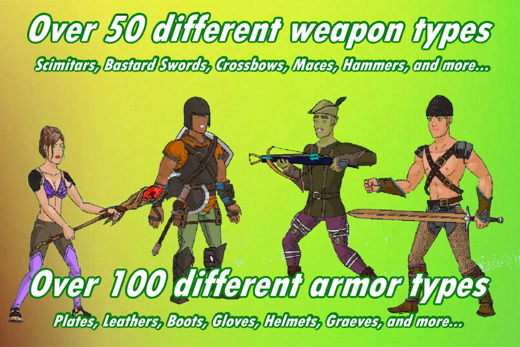 Weapons and Armor in Infinite Dungeon Crawler