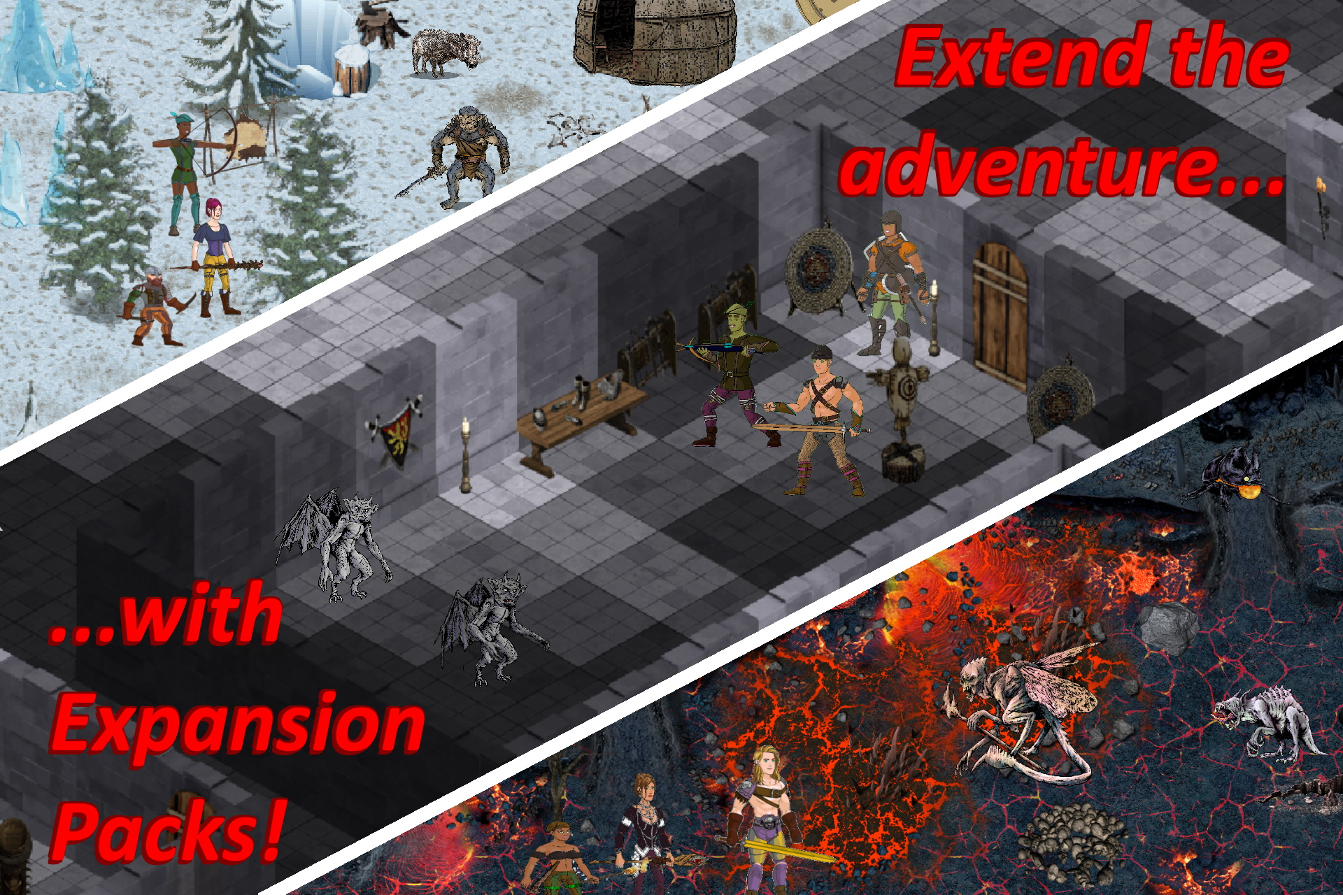 Expansion packs for Infinite Dungeon Crawler